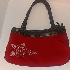 A perfect flower motif red 31 bag purse